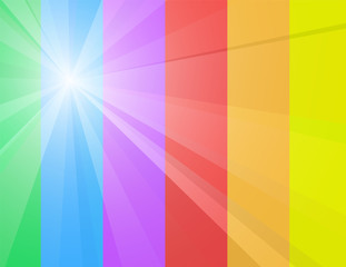 Sunny rainbow. Abstract vector background.