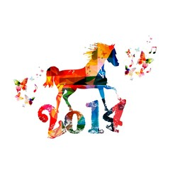 2014 Chinese New Year of the Horse background