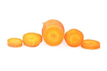 fresh carrots round slices