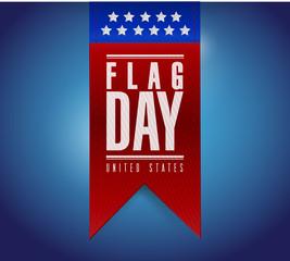 flag day banner sign illustration design