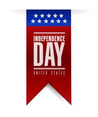 independence day banner sign illustration