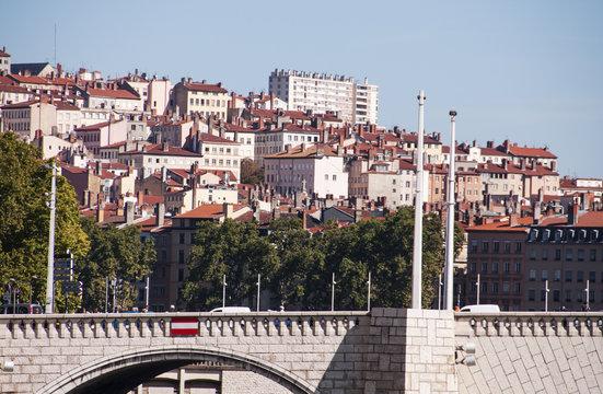 Vue sur la croix rousse à Lyon