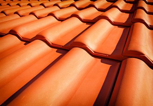 Roof tiles closeup