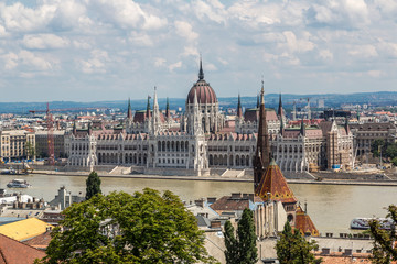 Fotobehang Boedapest The building of the Parliament in Budapest, Hungary