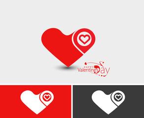 Valentine Day Heart Design.