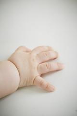 Close-up baby's hand