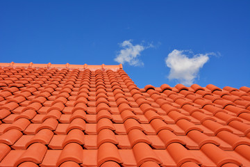 red roof texture tile