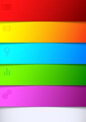Infographics bright rainbow background - list