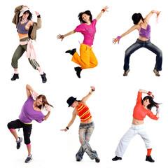 Tanzen Bewegung Spaß Collage