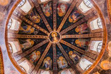Detail of Ceiling in Chora Church