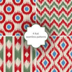 4 ikat seamless patterns