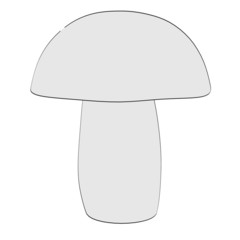 cartoon image of mushroom (eatable)