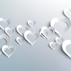Valentines day. Abstract paper hearts. Love