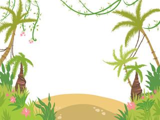 sea island frame palm