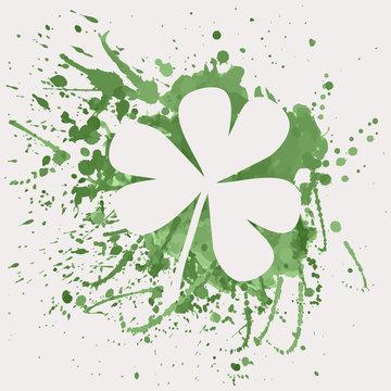 Vector illustration of shamrock for St. Patrick's Day