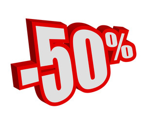Moins cinquante pourcent