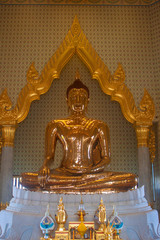 Pure gold Buddha in Wat Traimit Temple, Bangkok, Thailand