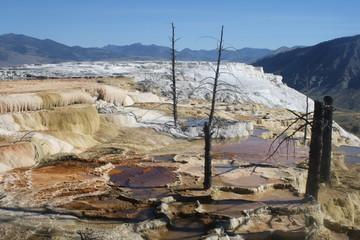 pozze di acqua nel deserto americano, yellowstone