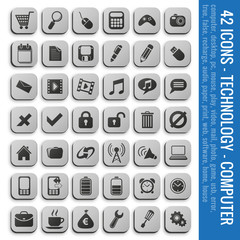 ICONS - TECHNOLOGY - COMPUTER