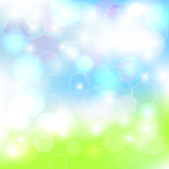 Abstract spring background. Vector illustration /EPS10