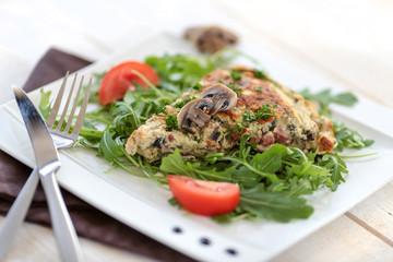 omelette lardons champignons 4