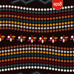 Tribal seamless pattern with circles