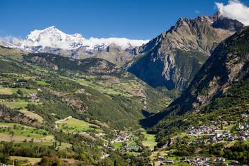 Monte Bianco visto dalla Valpelline, Valle D'Aosta