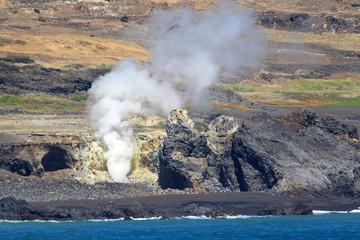 Iwo Island (volcanic islands) in Ogasawara Islands, Japan