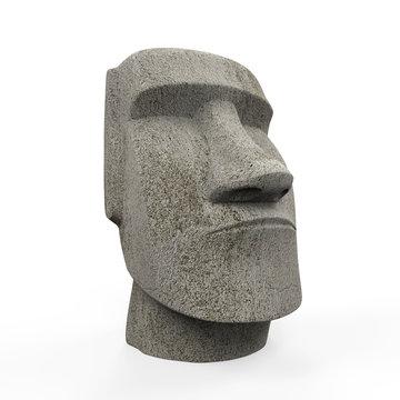 Moai Statue Isolated
