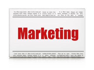 Marketing concept: newspaper headline Marketing