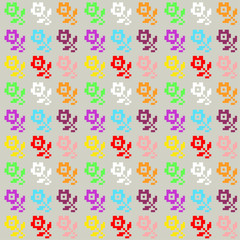 vector illustration of traditional colorful floral pattern
