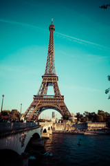 The Eiffel tower,the most popular landmarks in the world