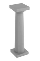 realistic 3d render of doric column