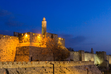 Evening in Jerusalem, Tower of David