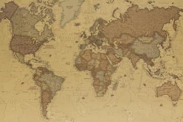 Obraz Starożytna mapa świata - fototapety do salonu