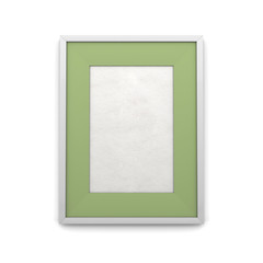 Picture frame with green inset