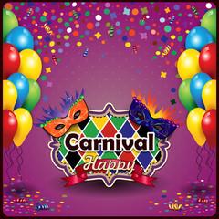 Carnival mask and balloon
