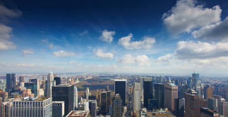 New York. Views of Central Park from Rockefeller Center
