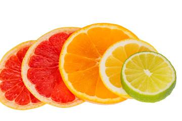 Keuken foto achterwand Plakjes fruit orange slices