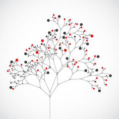 Abstract tree. Vector background
