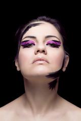 Beautiful Girl's Face.Perfect Makeup