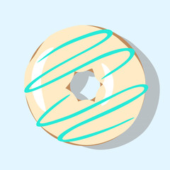 vector illustration of delicious glazed doughnut
