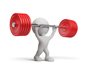 3d person with a barbell