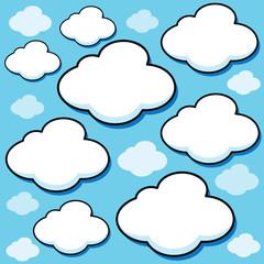 Cartoon Vector Clouds