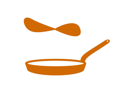 poêle à crêpes - Chandeleur - marron