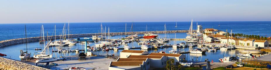 marina of Peschici tourist port del Gargano, Apulia - Italy