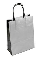 Bolsa de papel plateada
