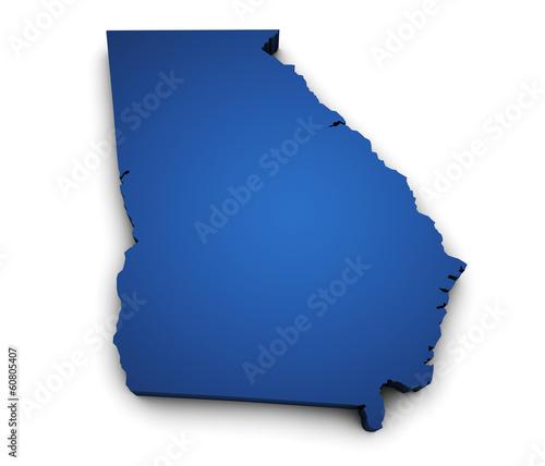 """""""Map Of Georgia State 3d Shape"""" Immagini E Fotografie"""