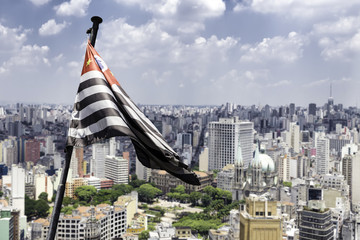Sao Paulo waving flag, Brazil, Latin America