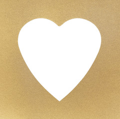 Golden texture and frame, with white heart